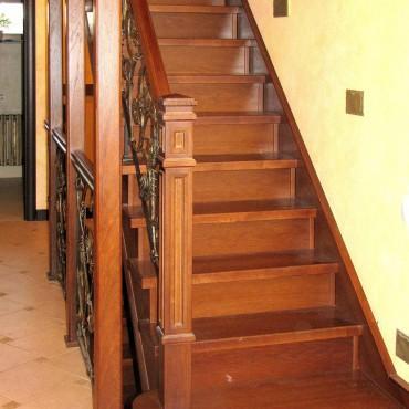 Лестница с эксклюзивной ковкой г. Ногинск