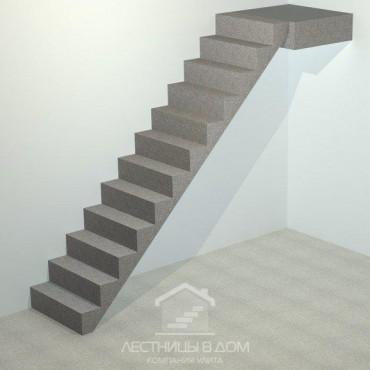 обшивка лестницы бетонной прямой