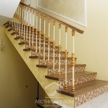 Установка ограждения на бетонную лестницу со вторым светом, г.Электрогорск