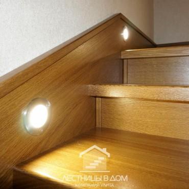 Бетонная лестница со встроенной подсветкой, г. Павловский Посад