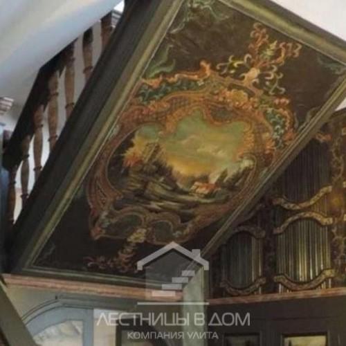 Реставрация немецкой лестницы…с картинами?
