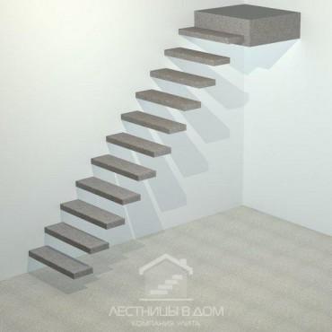 Лестница бетонная прямая консольная