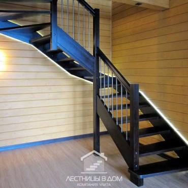 Лестница со светодиодной подсветкой г. Балашиха